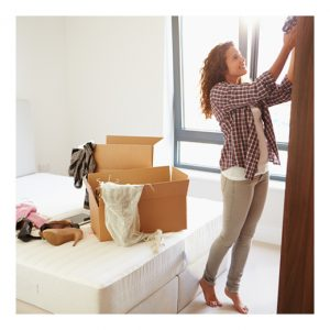 woman unpacking